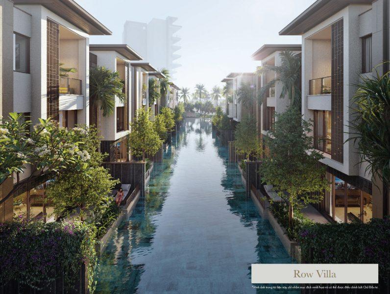 Hồ bơi cảnh quan biến tiểu khu Row Villa thành một Venice thu nhỏ bên bờ vịnh.