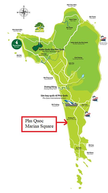 Vị trí Marina Square Phú Quốc