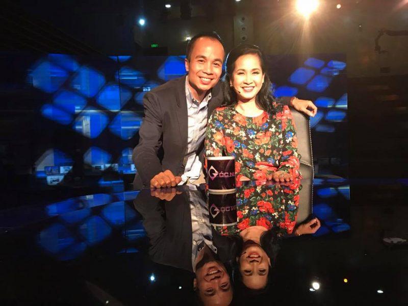 Diễn giả Hoàng Minh Trí và diễn viên Lan Hương