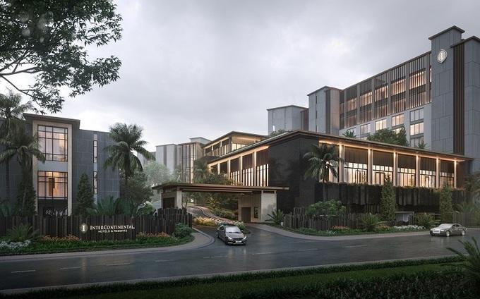Phối cảnh dự án InterContinental Residences Halong Bay.