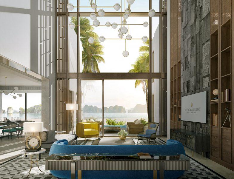 Phòng khách Beach Villas InterContinental HaLong Bay