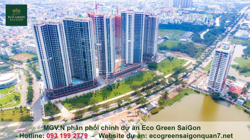 Tiến độ Eco Green Sài Gòn tháng 11: khẩn trương hoàn thiện