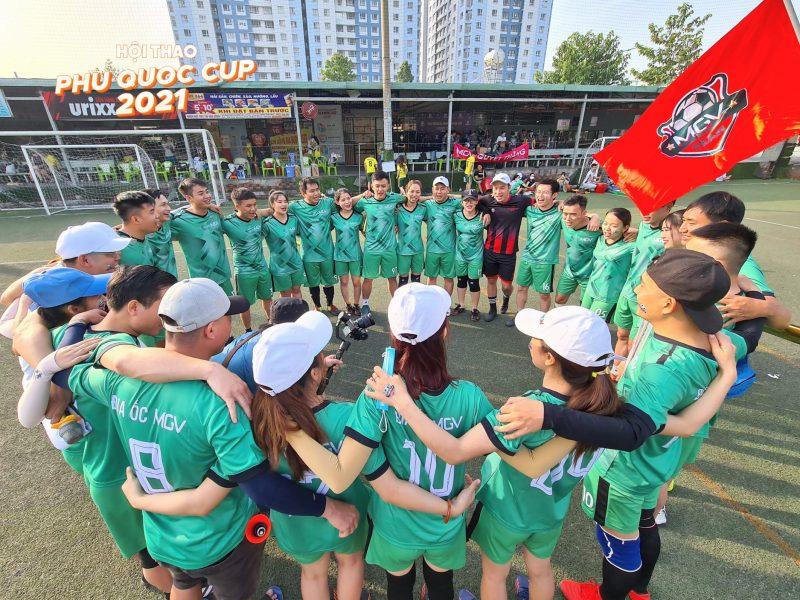 Đội bóng đá MGV thể hiện quyết tâm tại giải đấu